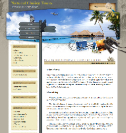 Natural Choice Tours home page sample - thumbnail